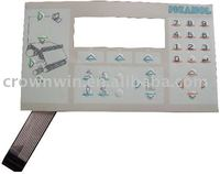 0.5-1mm customized membrane switch keyboard made in China
