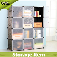 Black color simple modular storage cube organizer(FH-AL0043-12)
