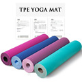 TPE double color yoga mat with carrying strap and bag exercise indoors