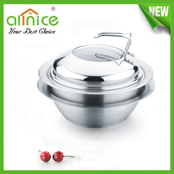 Multi-functional stainless steel steamer / UFO shape cooking pot with glass lid