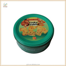 small cylinder tin customized round shape cookie tin can empty package item