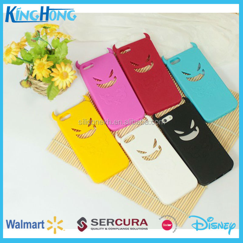 promotional 3D custom silicone mobile phone accessories case for Iphone 5, SEDEX & Walmart audit factory