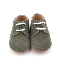 Lace Up Handmade Slippers Italian Leather Baby Oxford Shoes in Bulk