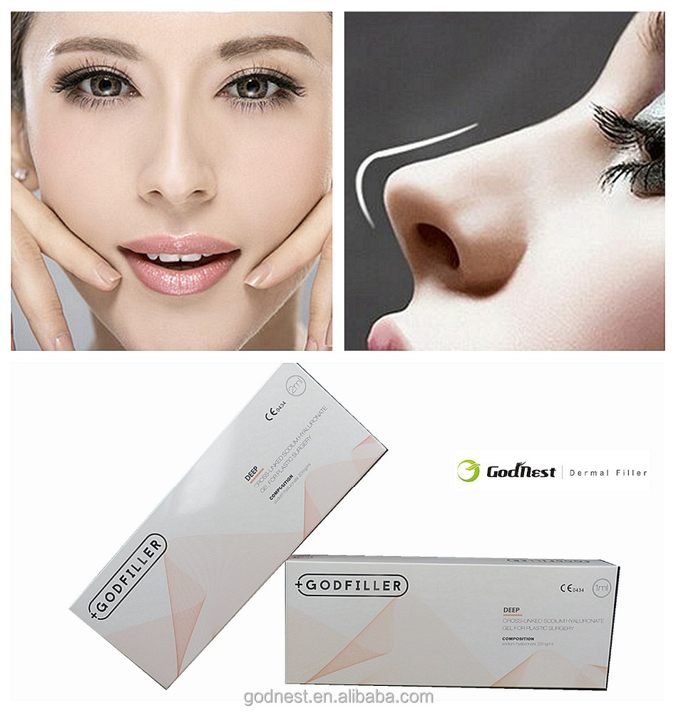 Cross linked hyaluronic acid dermal filler injection for face use