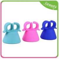 Silicon nail polish holder ring ,H0Tct cup shape nail polish glass bottle holder