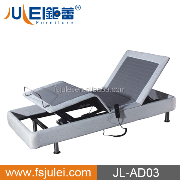 Folding Electric Maassage Adjustable Bed with Foam Mattress