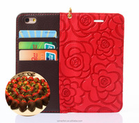 2016 Hot Sale Wallet Letaher Case New Arrival For Iphone7 Plus Case with chocolate design