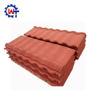 Hot Sale In Africa Stone Coated Metal Roof Tile/roof tile price philippines with colorful stone chips