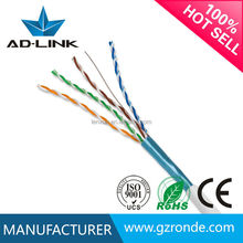 shielded cable drain wire 23AWG UTP Cat5e Cat6 Cat7 305m lan cable