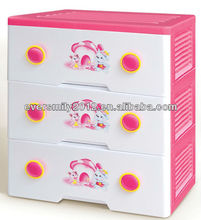 New 3 layers large cabinet clothing storage plastic drawers for kids with high quality