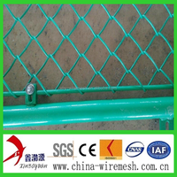 Nature Pressure Treated Wood Type and galvanize Frame Finishing pvc coated chain link fence