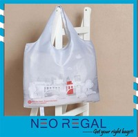 Foldable 210D Polyester Tote Shopping Bag