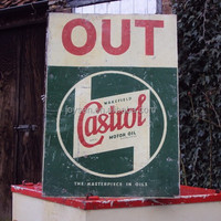 CASTROL IN OUT enamel coating board, iron sign