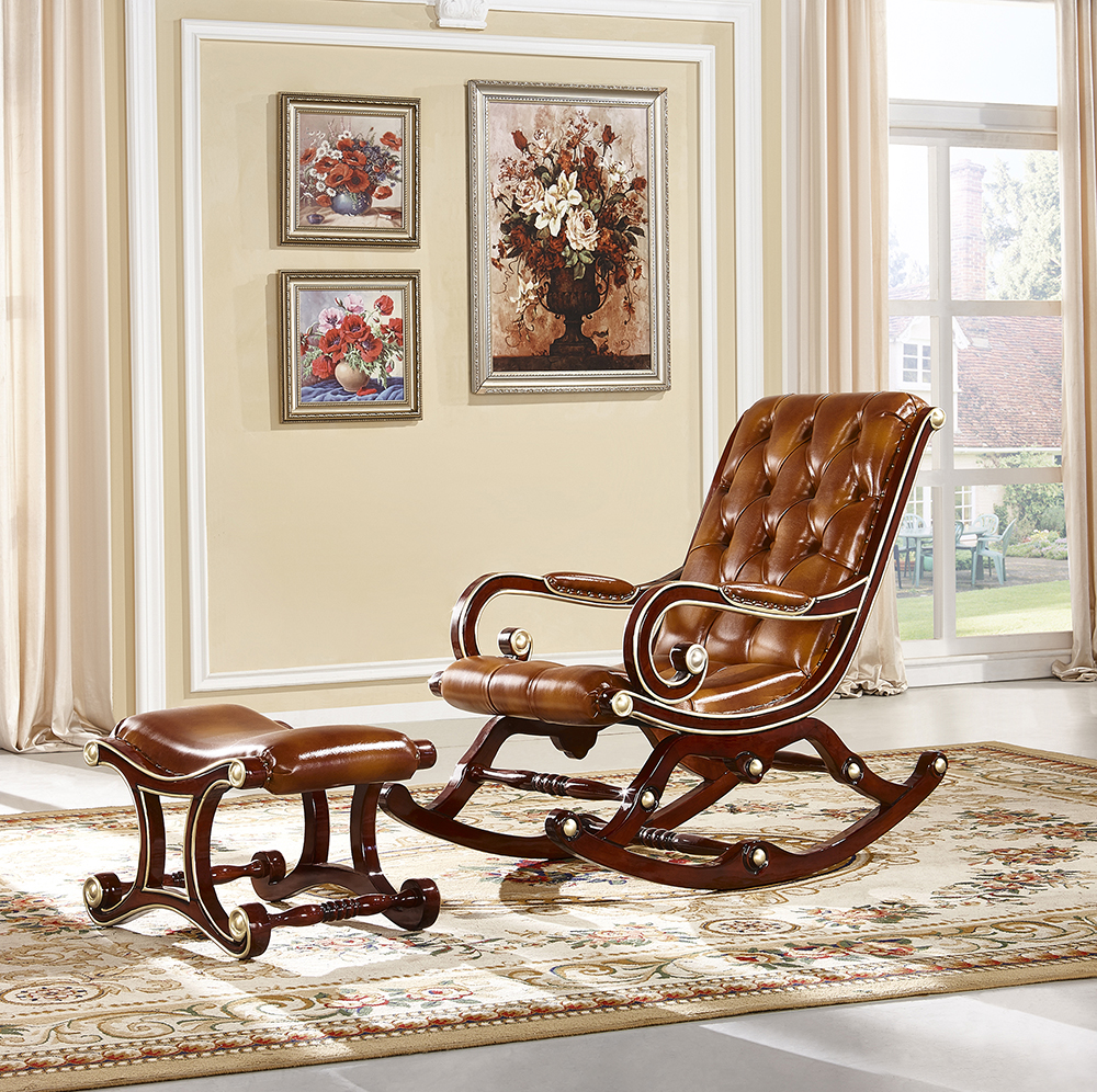 Solid Wood Living Room Furniture Royal Chair And Small Round Coffee ...