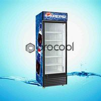 promotional 400L pepsi refrigerator commercial cooler for beverage