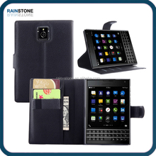 Luxury PU leather flip cover for Blackberry passport case