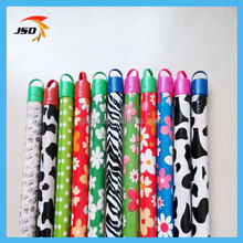 colorful pvc coated made in china plastic wooden brush pole