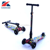3 PU wheel kick kids scooter with aluminum T-bar/ BSCI SGS EN-71 CE