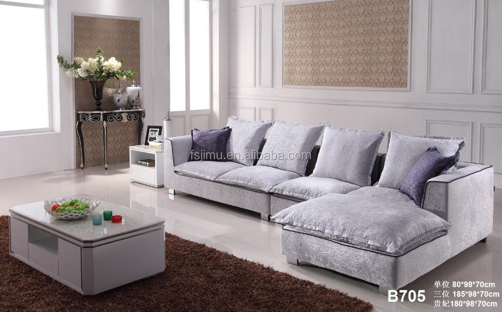 Modern Hotel Lobby Sofa Sectional L Shaped Fabric Set With Wooden Legs Corner Table Frame Sets