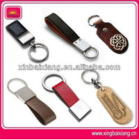 New design leather keyring with recessed or embossed logo