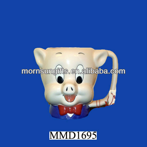Porky Pig 3D Figural Looney Tunes Applause Coffee Cup