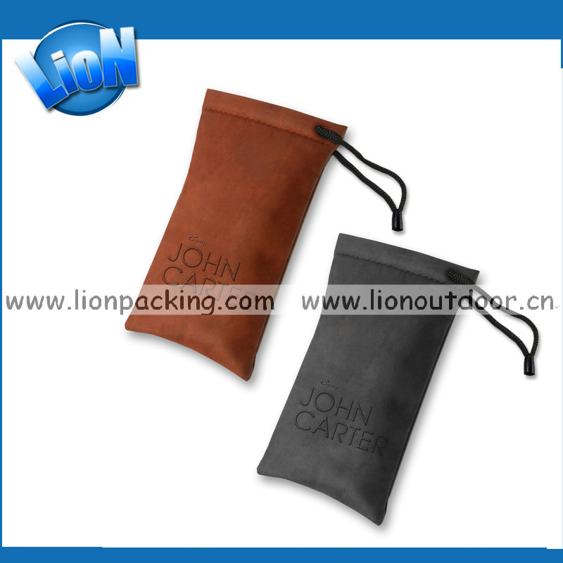 Earphone PU leather small pouch for coin key money bag jewelry storage bag