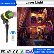 2017 hot item lanscape garden 3d mini projector 8 pattens laser spot light for festival decoration