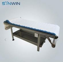 Stock Lot Cheap Single Use Hospitals White Nonwoven Flat Bed Sheets