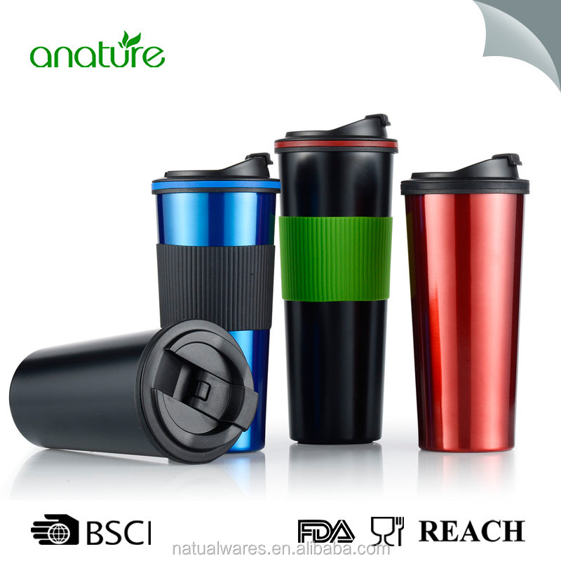 Stainless Steel Insulated Water Bottle Double Walled Vacuum Flask BPA Free with Wide Mouth Sport Travel Coffee Mug