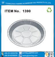 foil containers disposable aluminium foil round 9 inch aluminium foil pie pan family pie pan 1390