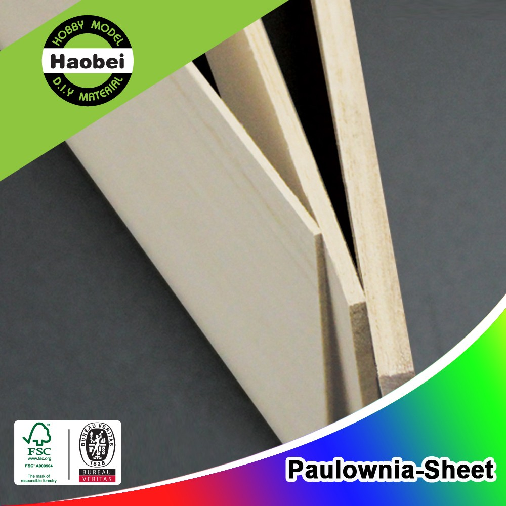 Chinese AAA Grade Paulownia Wood Board for Architecture