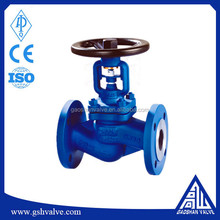 ansi 300 bellow sealed carbon steel stop or globe valve