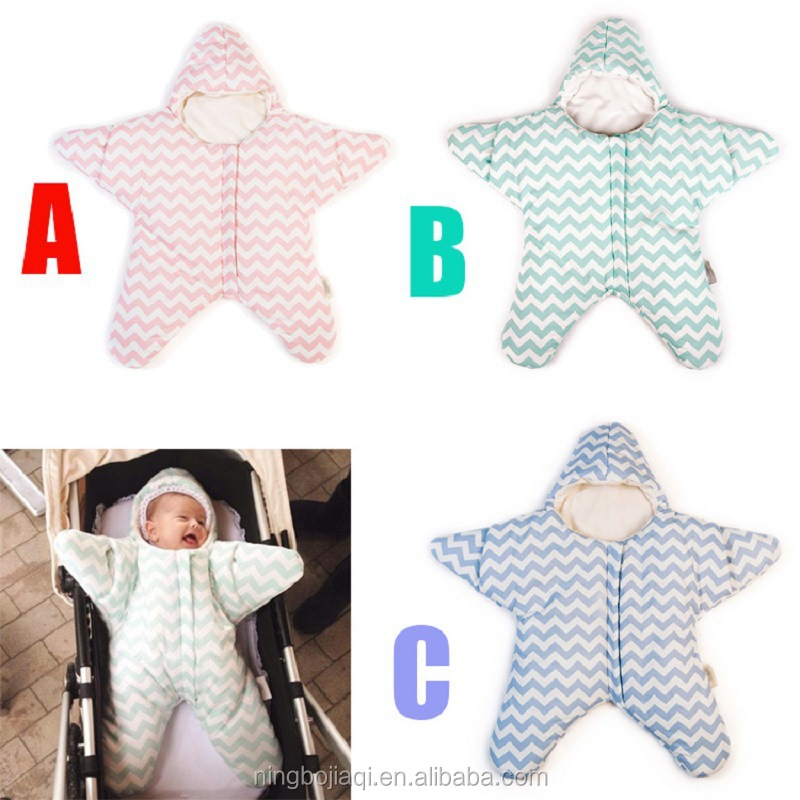 cotton baby starfish sleeping bag