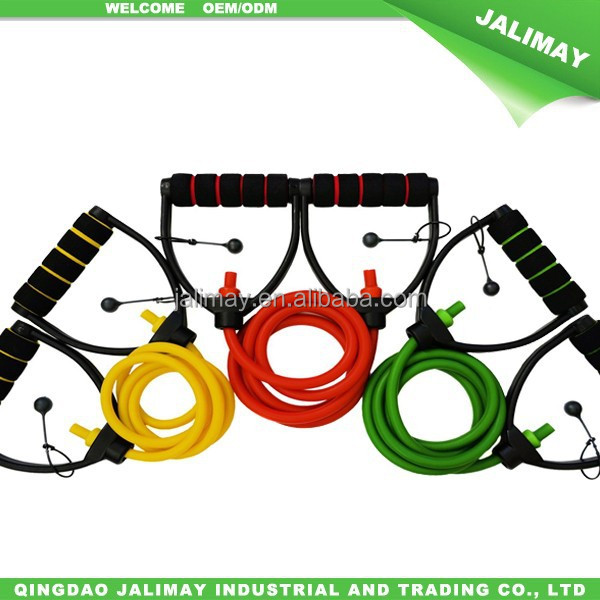 Adjustable Resistance Bands With Premium Comfort Anti-Snap D Handle