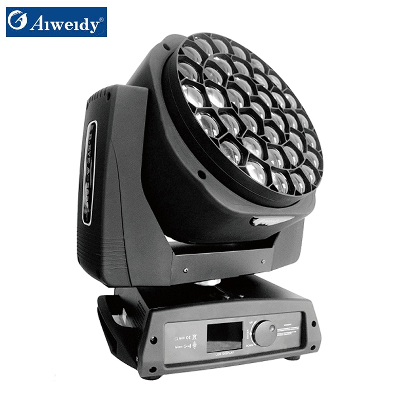 2019 New Design High Power Big Bee Eye 37x15w Zoom Led clay paky bee eye Moving Head