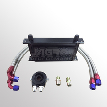 High performance aluminum engine transmission Mocal type 19row oil cooler kit+Filter Adapter hose end