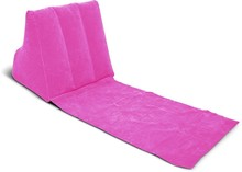 Eco-friendly pvc flocking inflatable wedge back support pillow