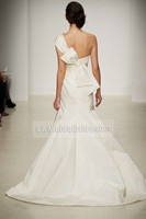 S603 Mermaid One-shoulder Butterfly Sleeveless Floor-length Wedding Dresses Made to Order China