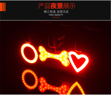 Modern Red Blue 5 Led 2 Laser Mountain Bike Lamp Cycling Safety Waterproof Rear Laser Bicycle Light