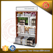 Convenience goods metal cosmetic store display unit