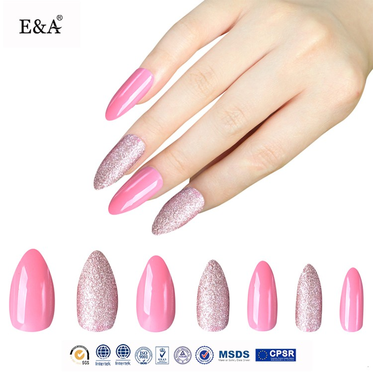 EA brand fengshangmei free sample nail art air brush acrylic nail tip false nails sets