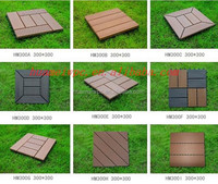 WPC Diy Tile Fully Recycled Wood Plastic Composite Decking