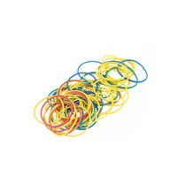 Natural elastic colorful rubber bands