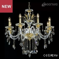 2016 Luxury bedroom gold 8 lights maria theresa crystal chandelier