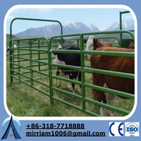 Factory hot sale heavy duty hot dipped galvanized corral panels /metal livestock fence for cattle sheep or horse