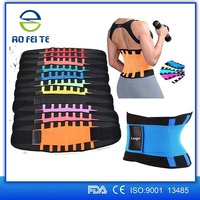 2016 trending products colorful back and shoulders support belt adjustable lumbar back brace