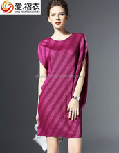 Japan style dress Issey Miyake pleats design fashion ladies pleated dress