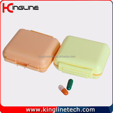 Plastic 6-cases pill box(KL-9102)