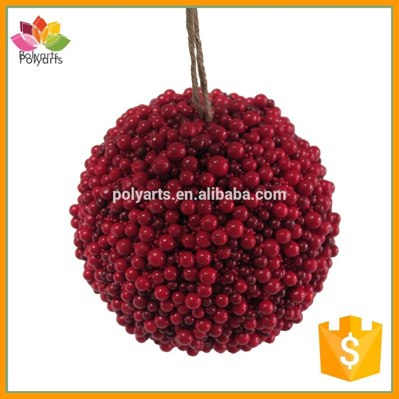 150MM Faux Artificial Foam Berry Ball Hanging Berries Ornament for Christmas Decoration