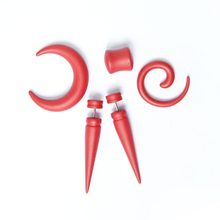 FAKE Spiral Taper Solid Color Acrylic Ear Cheater Plugs